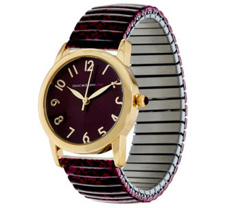 Isaac Mizrahi Live! Snake Print Expansion Watch - J329801