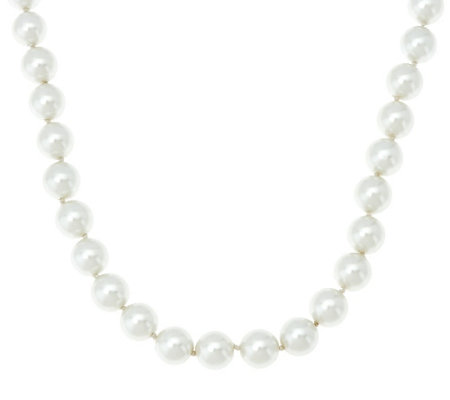 """As Is"" The Elizabeth Taylor Simulated Pearl Necklace"