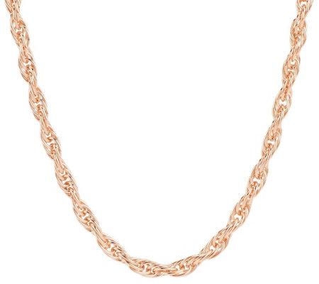 """As Is"" Bronze 36"" Polished Twisted Rope Necklace by Bronzo Italia"