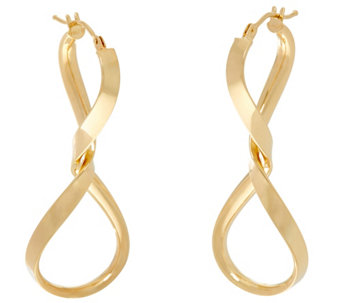 Vicenza Gold Twisted Hoop Earrings 14K Gold - J334701