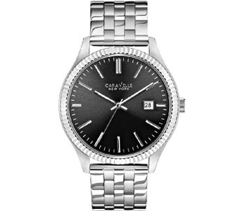 Caravelle New York Men's Silvertone Watch - J336801