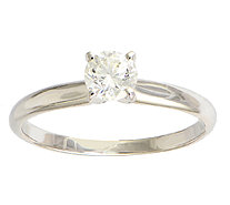 Diamond Solitaire Ring, 1/2 cttw, 14K White Gold, by Affinity - J339401