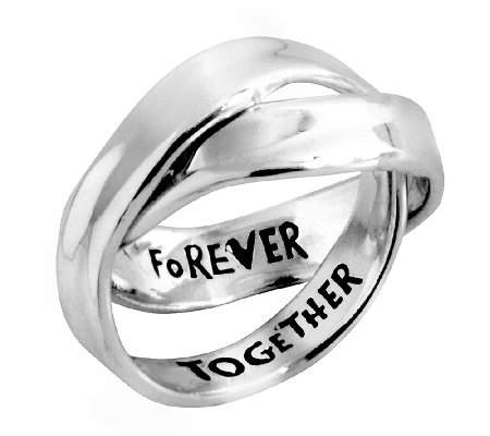 Hagit Sterling Rolling Message Ring