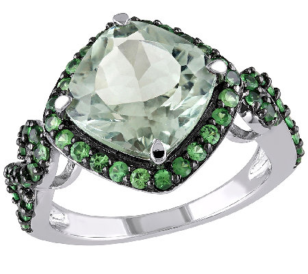 4.50cttw Tsavorite & Green Amethyst Ring, Sterling