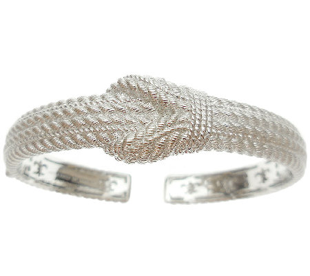 Judith Ripka Sterling Silver Textured Rope Cuff