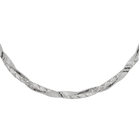 "Sterling Silver Twisted Fancy 18"" Necklace"