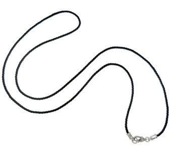"Judith Ripka Sterling 36"" Black Cord Necklace - J344901"