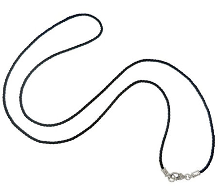 "Judith Ripka Sterling 36"" Black Cord Necklace"