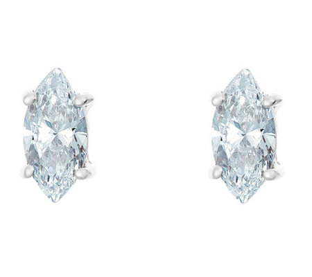 Marquise Diamond Earrings,14K White Gold, 1/4cttw, by Affinity