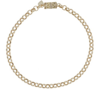 "Vicenza Gold 8-1/2"" Rolo Bracelet with Click Secure 14K, 3.3g - J345601"
