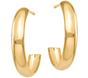 14K Gold Polished Hoop Earrings - J374801