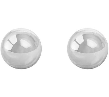 Sterling Silver 10mm Polished Ball Stud Earring