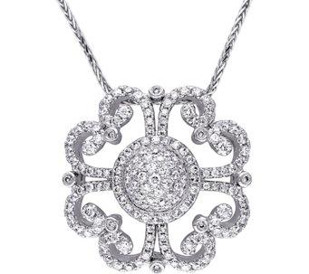 Affinity diamond jewelry necklaces jewelry qvc vintage style diamond pendant 14k 1 14 cttwby aloadofball Choice Image