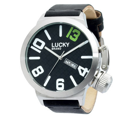 lucky brand s black leather qvc