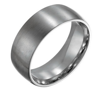 Forza Men's 8mm Steel Brushed Ring - J109502