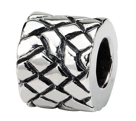Prerogatives Sterling Silver Basketweave Bali Bead