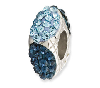 Prerogatives Sterling Blue Crystal Square Bead - J113202