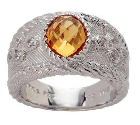 Judith Ripka Sterling Facete 1.60ct Gemstone Graduated Band Ring