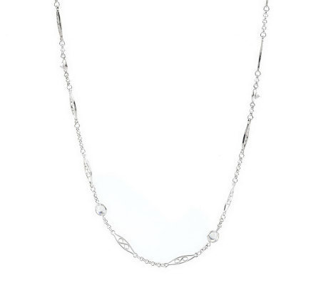 """As Is""Epiphany Platinum Clad DMQ. By The Yard Necklace"