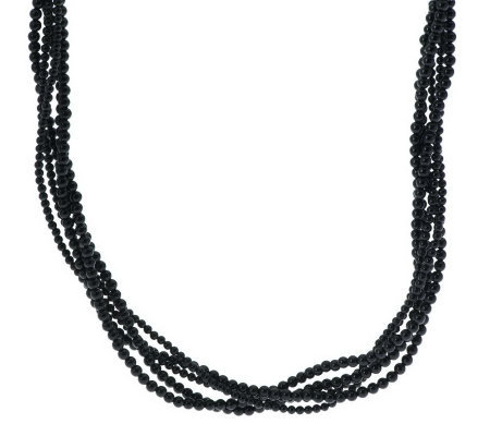 Carolyn Pollack Essentials Sterling 5-Strand Bead Necklace