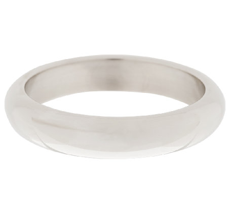Argento Nuovo Sterling Bold Polished Round Domed Bangle