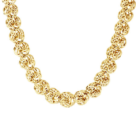"14K Gold 18"" Polished Love Knot Necklace, 30.5g"