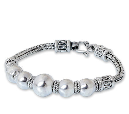 "Novica Artisan Crafted Sterling "" Thai Moons"" Bracelet"