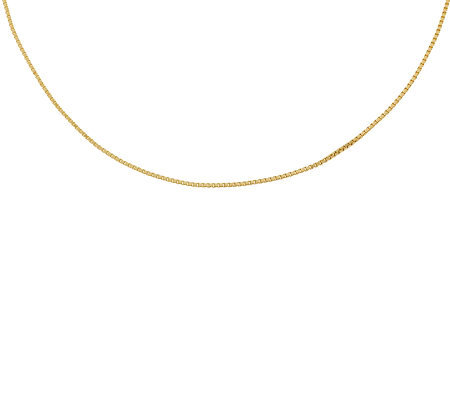 "Milor 24"" Polished Box Chain,14K Gold 3.4g"