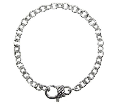 "Judith Ripka Madison 7-1/2"" Chain Bracelet, Sterling"