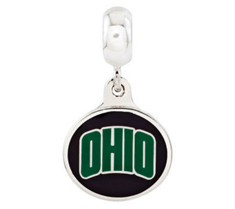 Sterling Silver Ohio University Dangle Bead - J315002