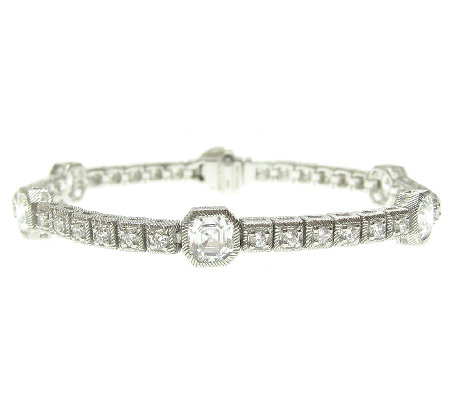"Judith Ripka 7-1/2"" Sterling 5.15ct DiamoniqueTennis Bracelet"