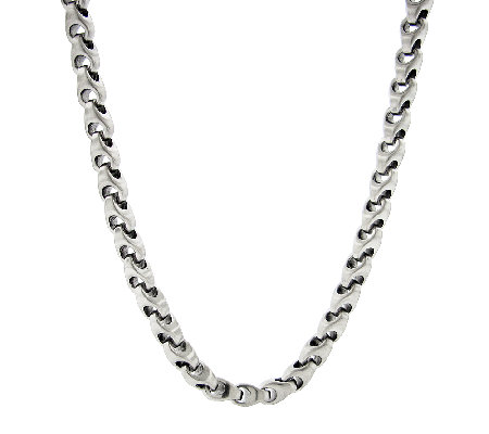 Stainless Steel Anchor Chain Necklace with Satin Finish 24""