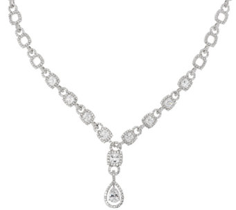 "Judith Ripka Sterling 14.40 ct tw Diamonique Link Necklace 20"" - J318102"