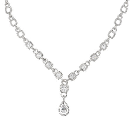 Judith Ripka Sterling 14.40 ct tw Diamonique Link Necklace 20""