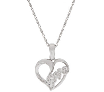 Heart Diamond Enhancer w/ Chain Sterling, 1/10 cttw, by Affinity - J320002