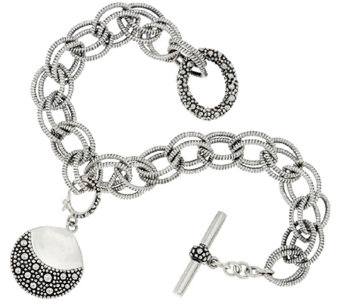 Michael Dawkins Sterling Silver Starry Night Double Link Toggle Bracelet - J320702
