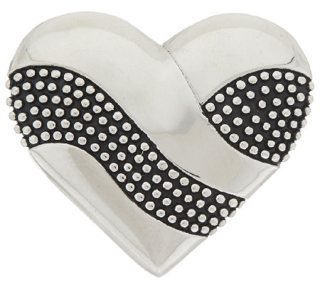 Stainless Steel Textured and Polished Heart Slide