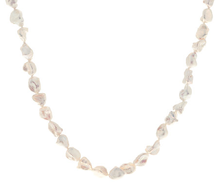 "Honora Cultured Pearl Keshi 54"" Sterling Necklace"