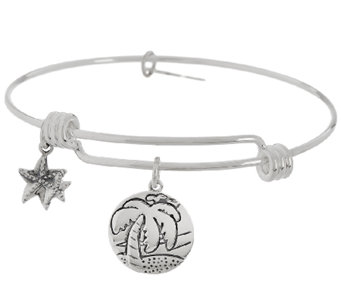 Sterling Silver Summer Theme Charm bangle by Extraordinary Life - J326002