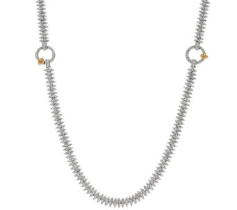 Barbara Bixby Sterling & 18K White Rhodium Eastern Chain Necklace - J326102