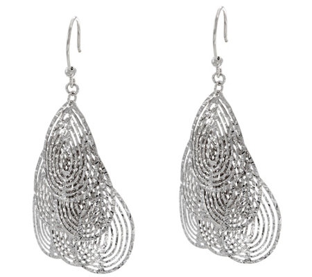 Vicenza Silver Sterling Diamond Cut Dangle Earrings