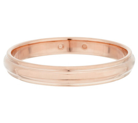 """As Is"" Oro Nuovo Large Bold Ribbed Round Design Bangle 14K"