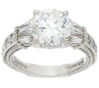 Judith Ripka Sterling silver Estate Diamonique Ring - J331902