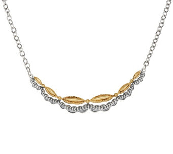 """As Is"" Sterling/Brass Scalloped Design Necklace by Fritz Casuse - J333002"