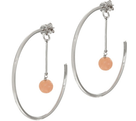 Lola Rose Katrina Hoop Earrings with Gemstone Dangle