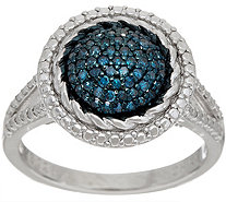 Pave' Round Colored Diamond Ring, Sterling, 1/4 cttw by Affinity - J348802