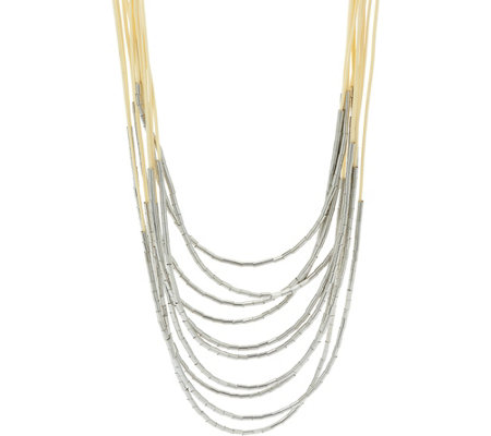 """As Is"" Long Multi-Strand Necklace with Bead Accents"