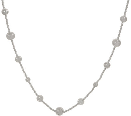 """As Is"" UltraFine Silver 24"" Diamond Cut Necklace 19.0g"