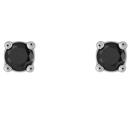 Affinity 14K 1/10 cttw Round Black Diamond StudEarrings