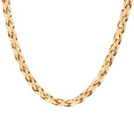 14K Gold Polished Woven Wheat Necklace, 21.0g - 26.0g
